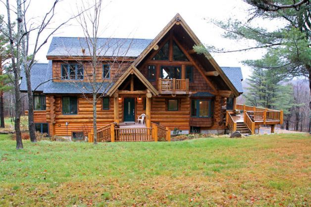 This Gorgeous Log Home In Upstate New York Is For Sale Log Homes Log Cabin Homes Log Home Living