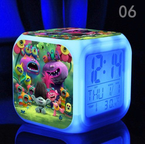Dreamworks Trolls Gang Bedroom Digital Alarm Clock