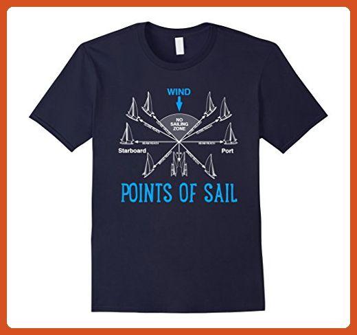 Mens Point Of Sail Shirt Sailing Boat Wind Sailor Funny T Shirt Medium Navy - Funny shirts (*Partner-Link)