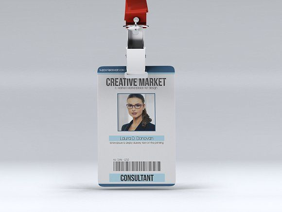 Multipurpose Id Badge By Tzochko On Creativemarket  Template Id