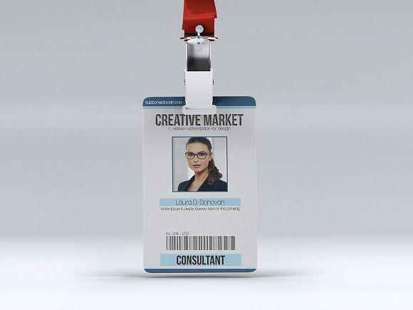 Multipurpose Id Badge By Tzochko On Creativemarket  Template Id