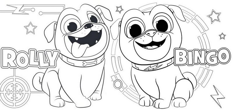 36+ Puppy dog pals coloring pages hissy info