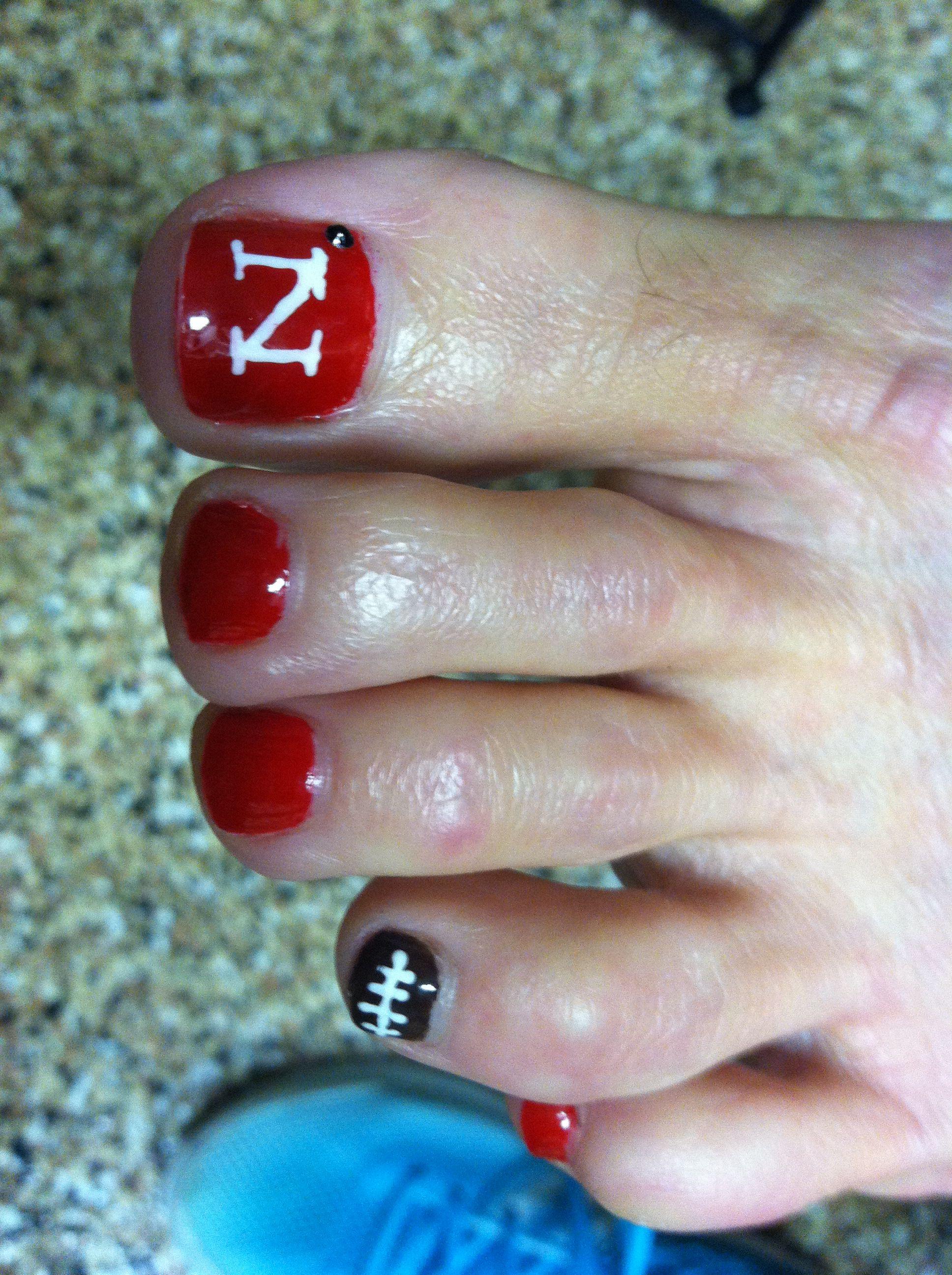 Nebraska Nails By Me Pinterest Pedicures Makeup And