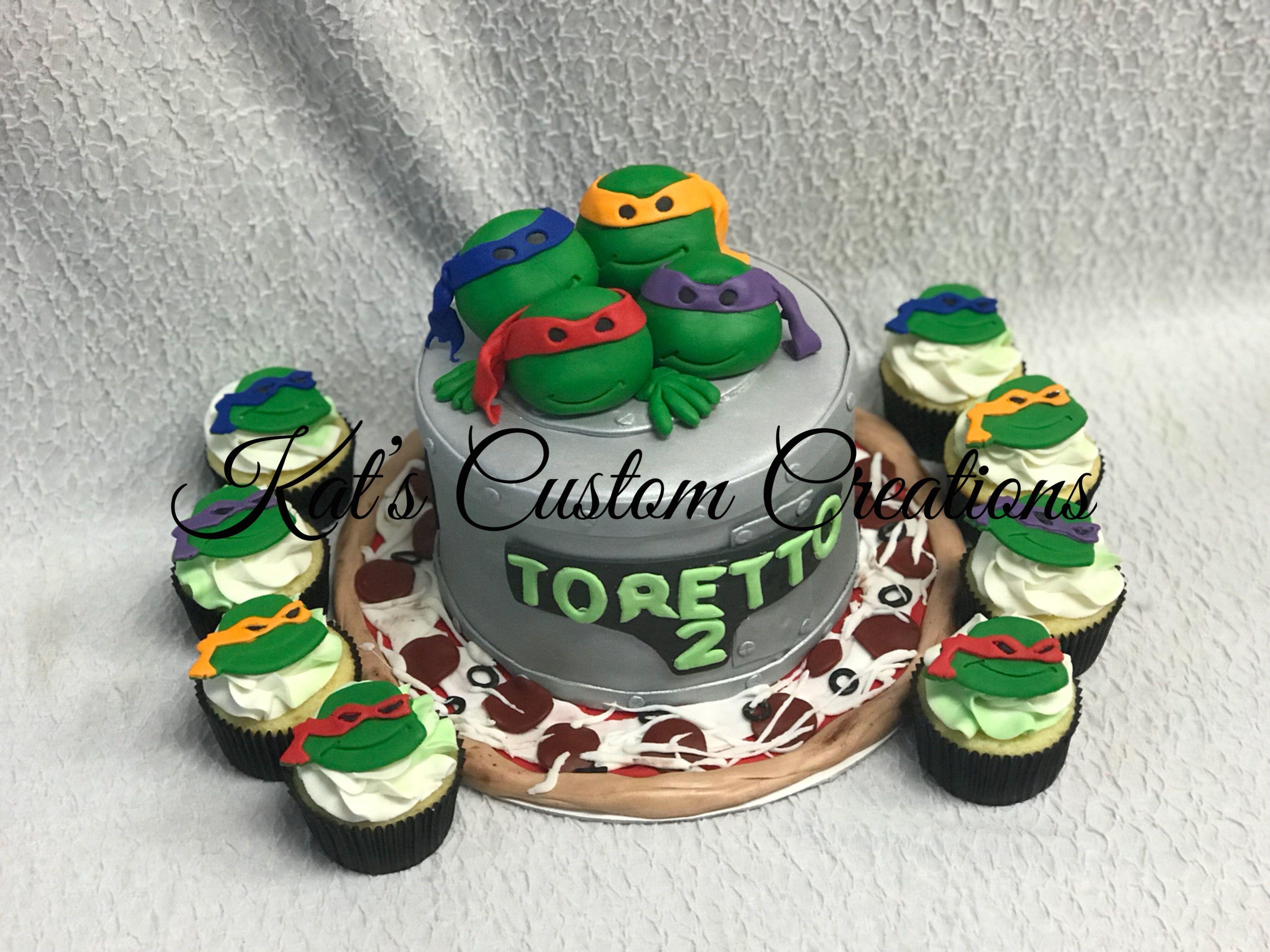 Teenage Mutant Ninja Turtles Cake And Cupcakes Ninja Turtle Cake Teenage Mutant Ninja Turtle Cake Boy Birthday Cake
