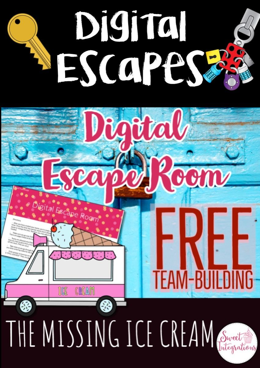 Digital Escape Room The Missing Ice Cream Freebie Distance Learning Escape Room Free Middle School Math Project Based Learning