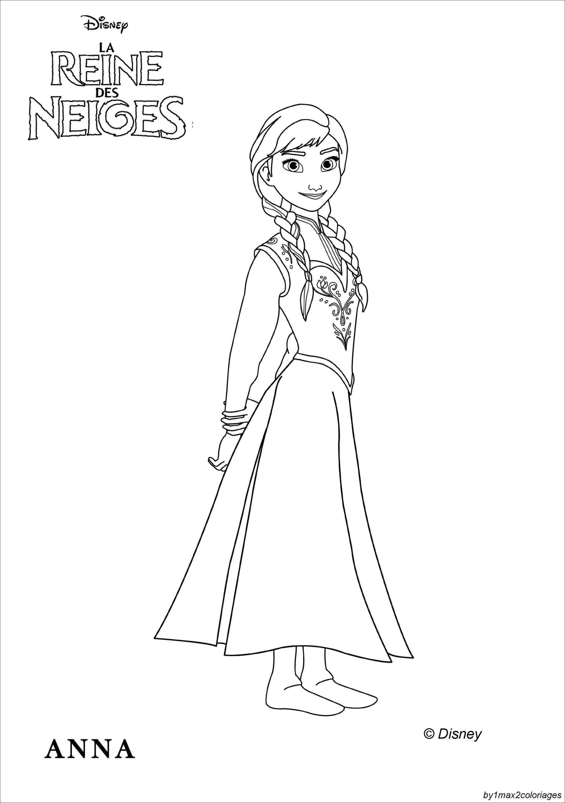 Dessin De La Reine Des Neige