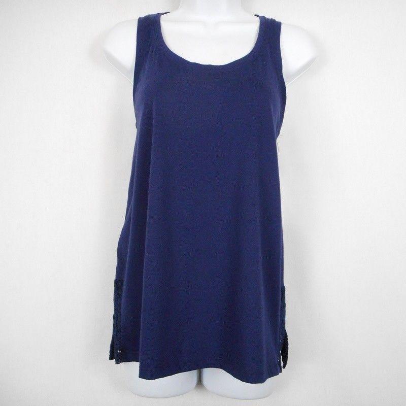419d48c9f1cd9 Sonoma Intimates Womens Top Blue Sz S Cotton Blend Scoop Neck Sleep Lounge  Tank  Sonoma  Sleepshirt  Everyday