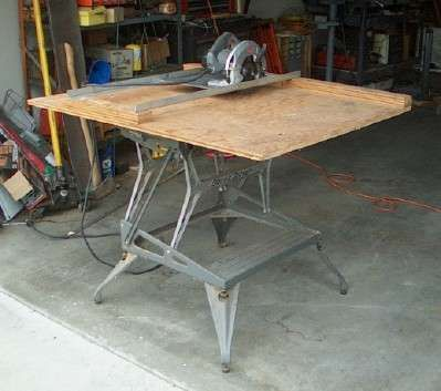 circular saw table instructable (until we get a real table saw this could help)