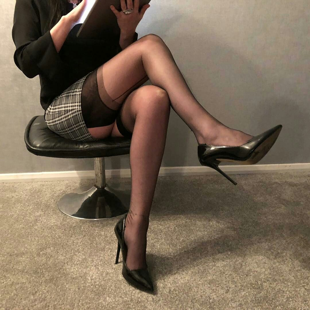 Nylon and high heels