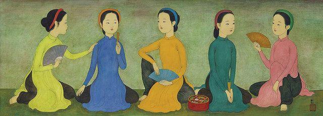 Mai Trung Thứ (1906-1980) - Năm cô gái trẻ - CINQ PETITES FILLES (FIVE LITTLE GIRLS) 1973