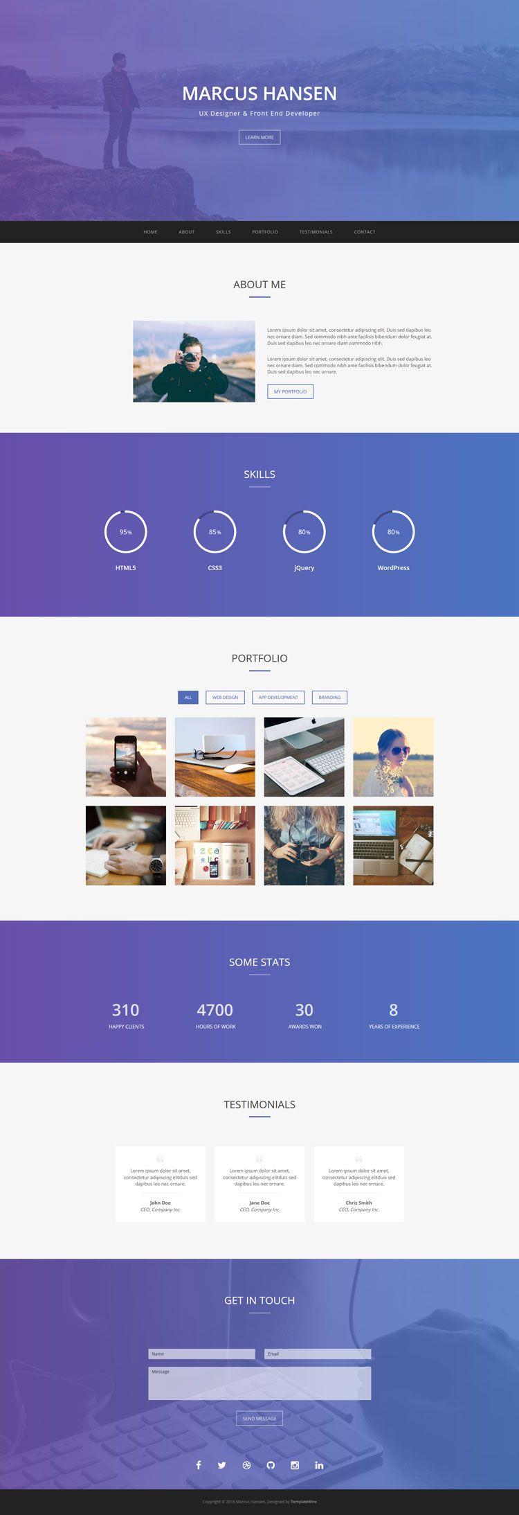 Geek Free Personal Portfolio Bootstrap Website Template Personal Portfolio Portfolio Templates Art Portfolio Website