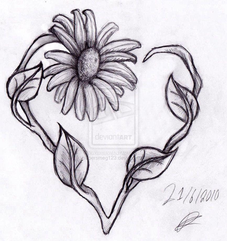 Heart Daisy Tattoo: Heart & Daisy Tattoo - Bing Images