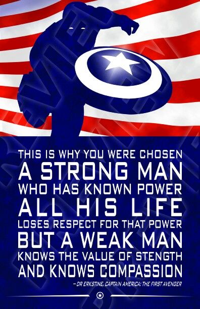 Marvel Quote Posters Captain America, Steve Rogers Comic