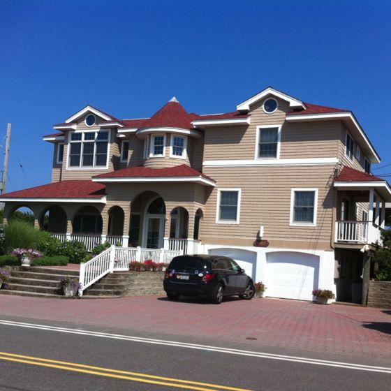 Beautiful Beach Front Home In Brant Beach On Long Beach Island Nj Dream Home Beachfront House Long Beach Island Dream House