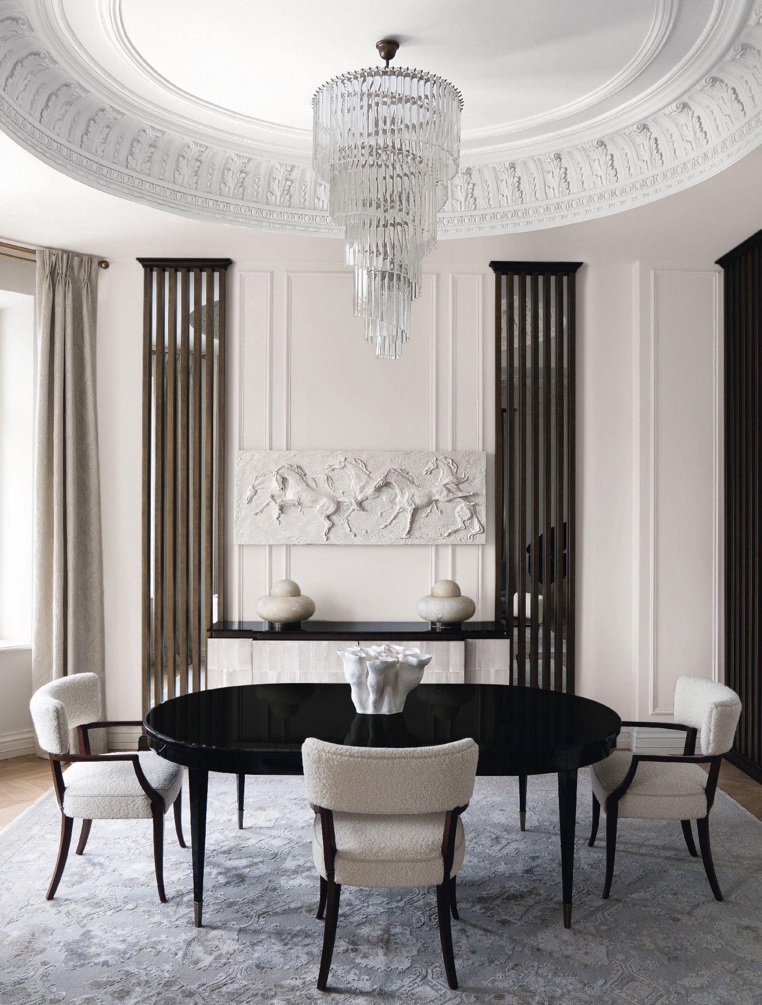 Una Casa A Mosca Tra Classico E Moderno Sala Da Pranzo Lusso Sale Da Pranzo Moderne Idee Di Interior Design