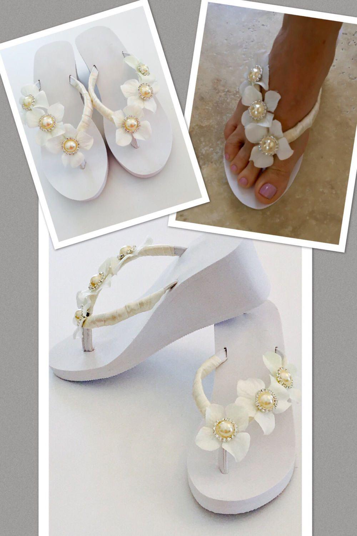 Wedding Flip Flops Bride Flip Flops Wedges Sandals For Bride Sandals For Wedding Beach Wedding Flip Flop Bride Flip Flops Wedding Flip Flops Bridal Shoes
