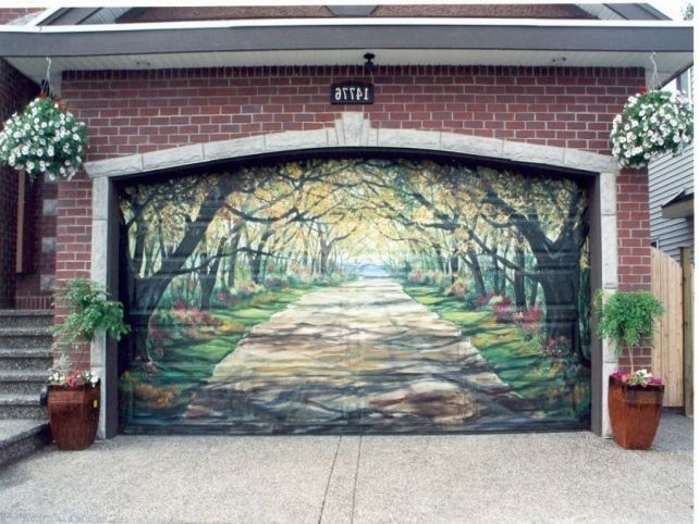 11 Of The Most Awesome Garage Door Murals In The World Garagedeur Muur Tekening Muurschildering