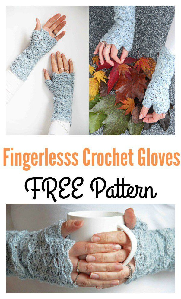 Beautiful Fingerless Gloves Free Crochet Pattern | Guantes y Tejido