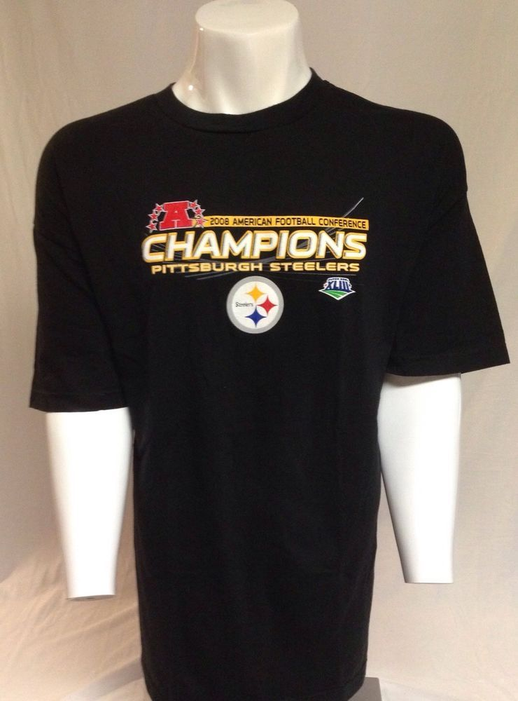 b17aef8e0 Pittsburgh Steelers 2008 AFC Champions XXL Short Sleeve Tee T-Shirt 2XL   PittsburghSteelers