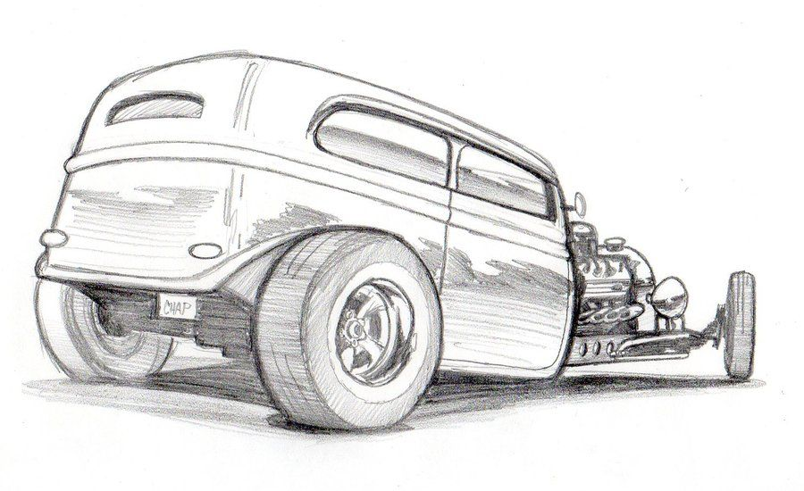 New Hot Rod Pencils By Chapstyle On Deviantart Car Art