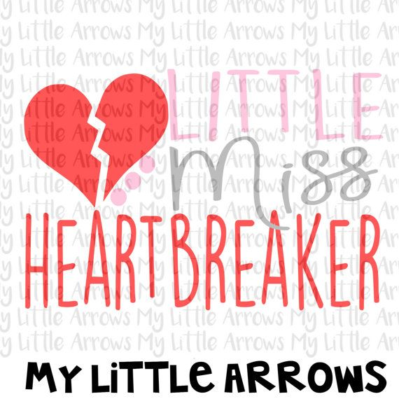 Little miss heartbreaker SVG, DXF, EPS, png Files for