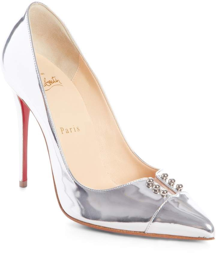 574211fc7cd Christian Louboutin Predu Studded Cap Toe Pump | Products in 2019 ...