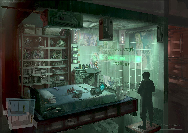 Feng zhu design cyberpunk designs dmitry sorokin for Cyberpunk interior design