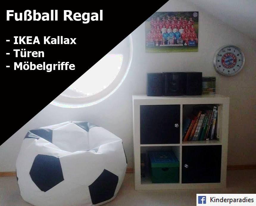 Ikea Möbelgriffe fußballzimmer ikea hack fuß regal diy aus einem ikea