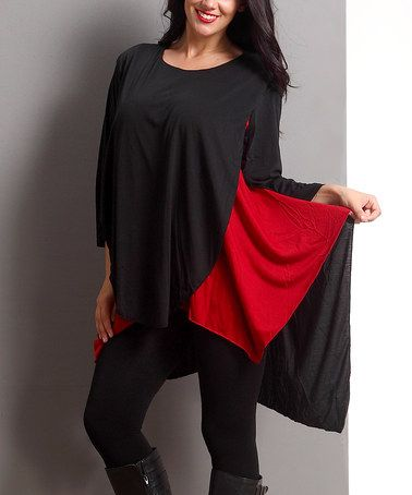 Another great find on #zulily! Black & Gray Layered Shirt Tunic - Plus #zulilyfinds