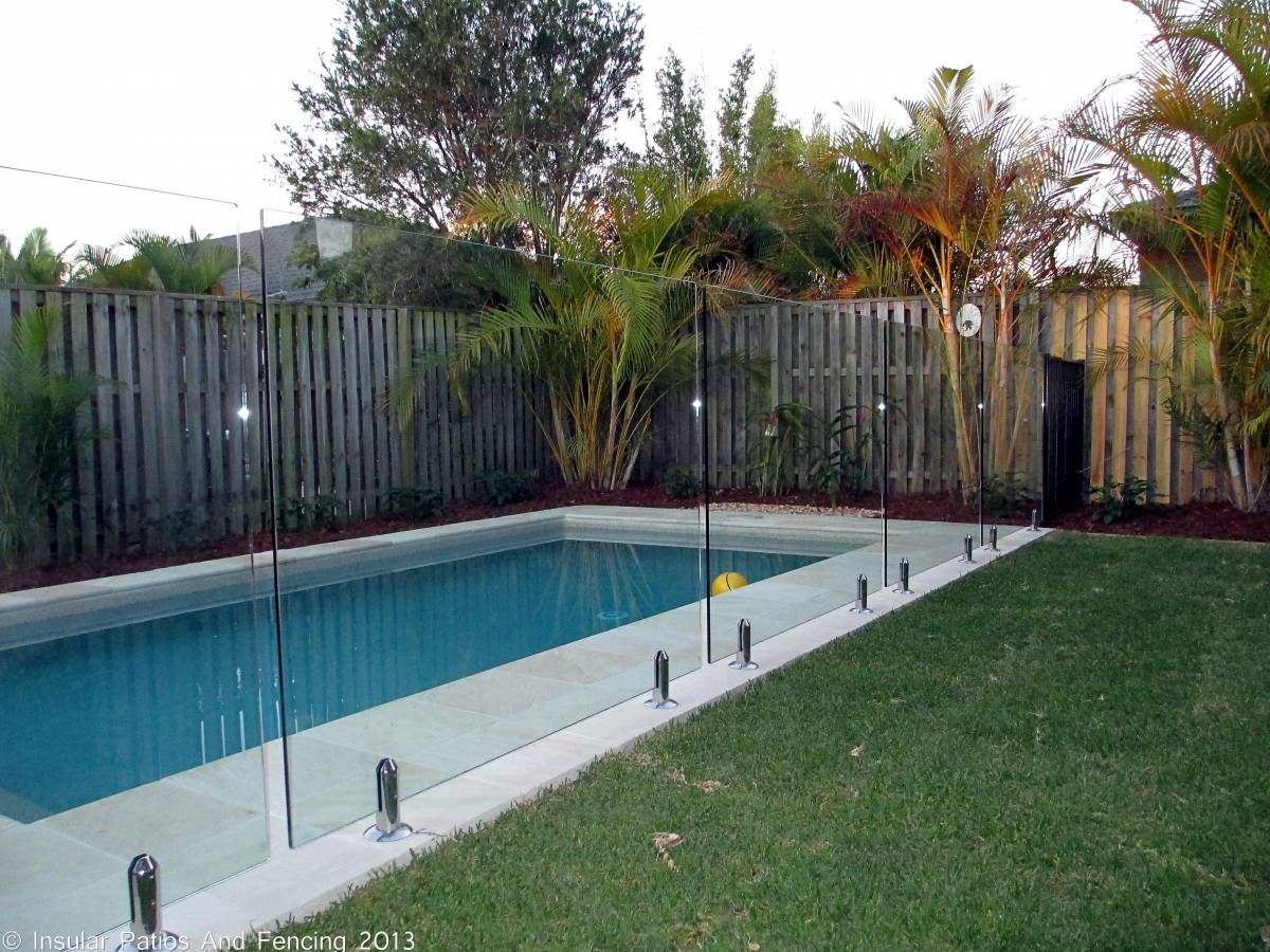 Frameless Glass Pool Fencing Oxenford Gold Coast Insular Patios Fencing Backyard Pool Landscaping Glass Pool Fencing Glass Pool