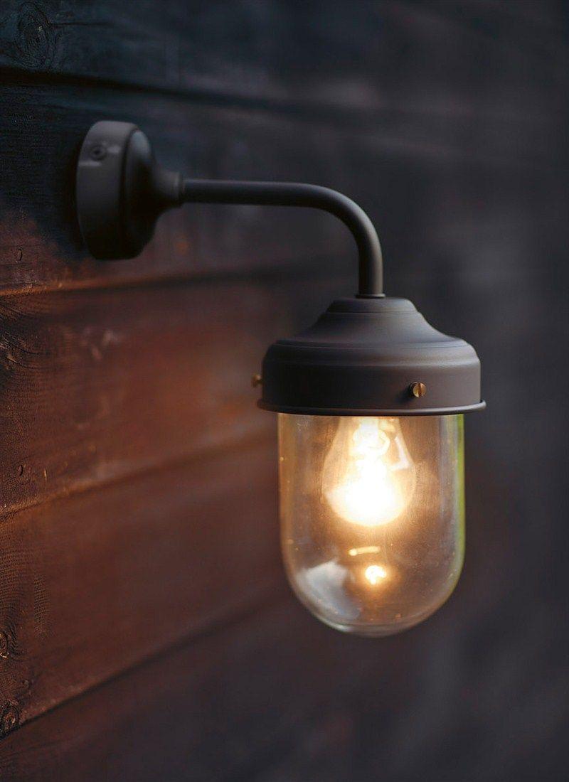 Applique ext rieure murale en acier et zinc barn for Luminaire exterieur zinc