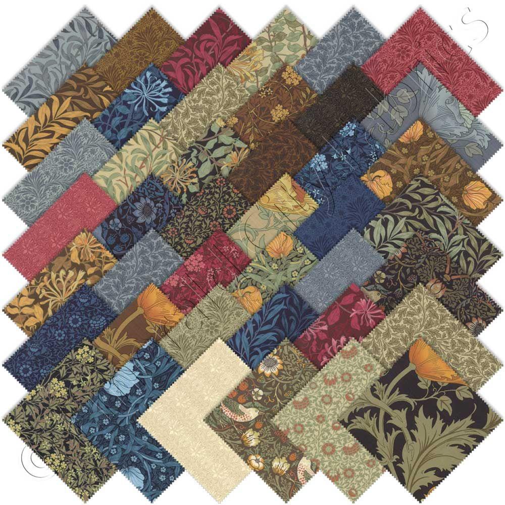 Moda Best of Morris Charm Pack Fabric Squares Quilting | Best of ... : discount quilting fabrics - Adamdwight.com