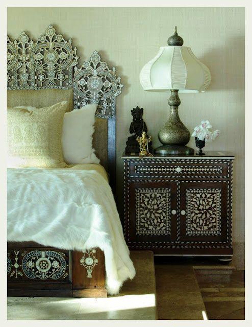 Indian Ethnic Bedroom Interiors I Ethnic Bedroom Interior