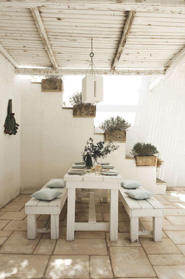 Casa De Vacaciones En Puglia Italia Garden Dining Patio