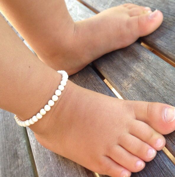 Baby Anklet White Stone Ankle Bracelet By Aupepied 16 99