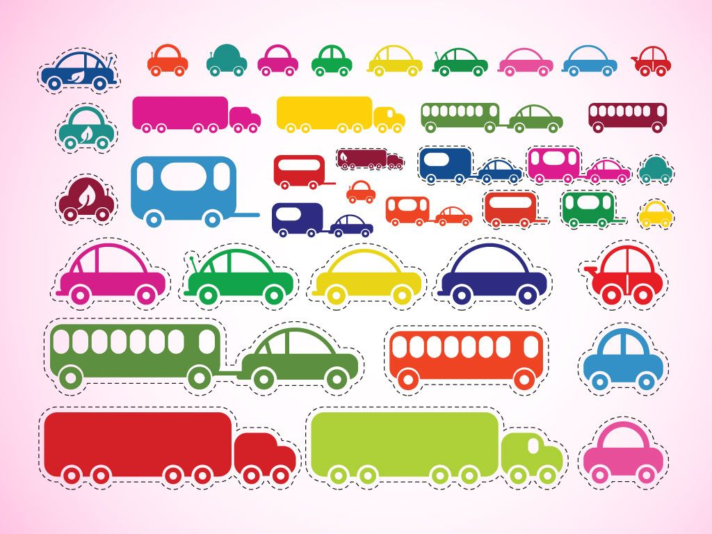 This Cute Car Truck And Bus Clip Art Pack