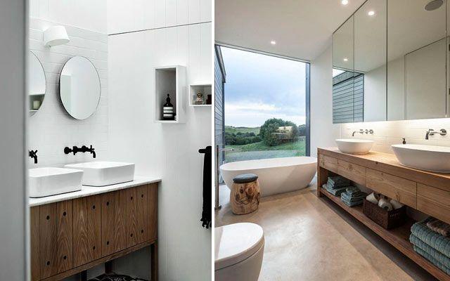 Dise o de ba os con lavabos sobre encimera decor pinterest blog - Muebles bano originales ...