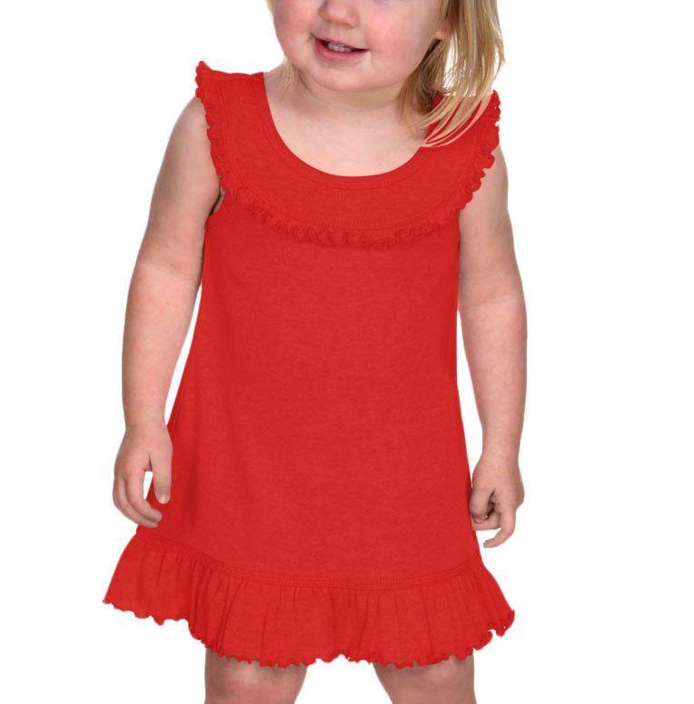 KAVIO Infants Girls Ruffle Collar Tank Dress Style: I1P0626