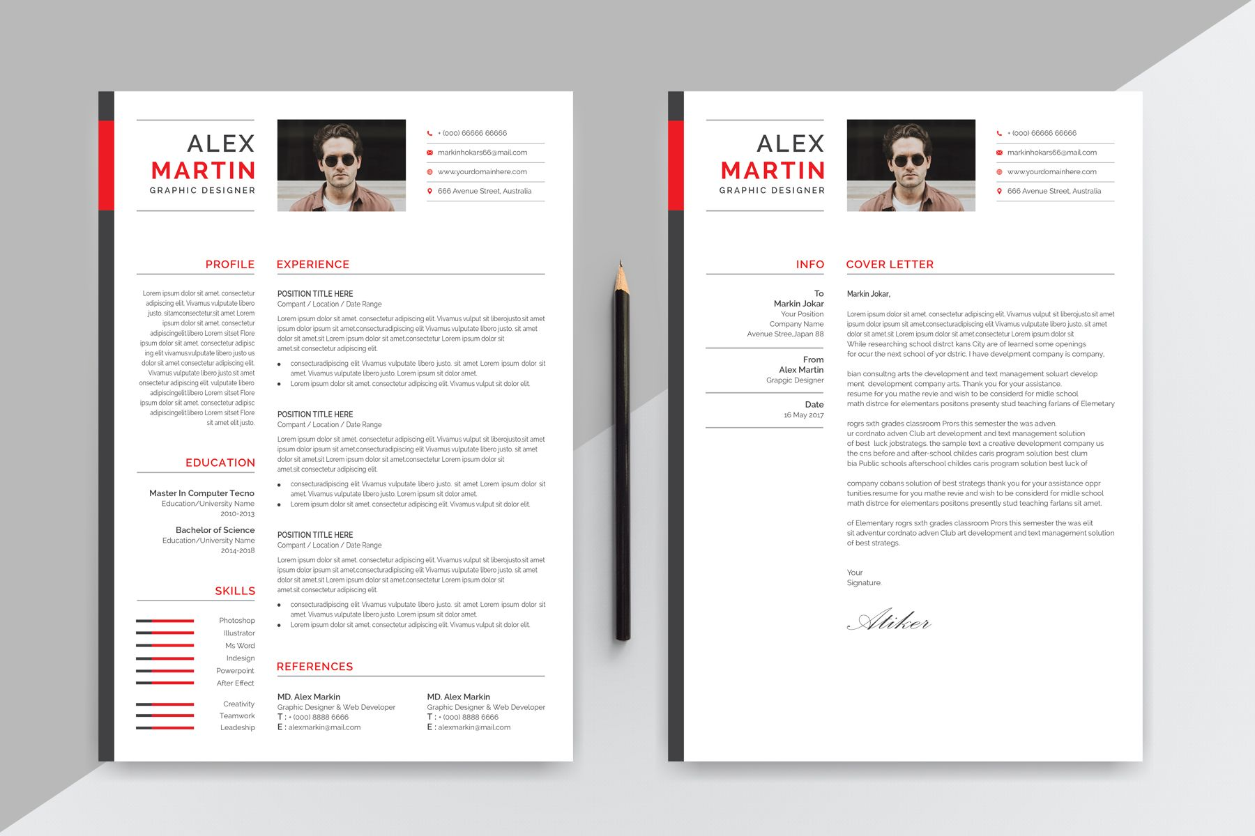 Alex Martin Modern Creative Resume Template 77858 Creative