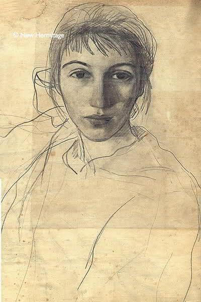 Zinaida Serebryakova ~ self portrait