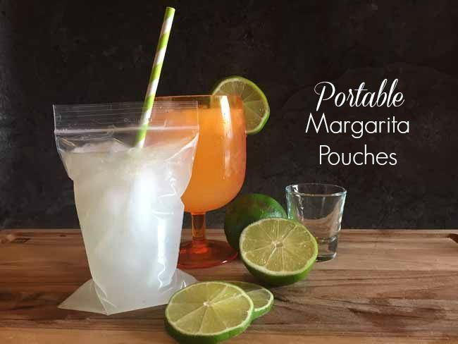 These portable margarita pouches are perfect for the beach or the pool! Carry your drink with you and pre-fill bags so you don't have to leave the party later!