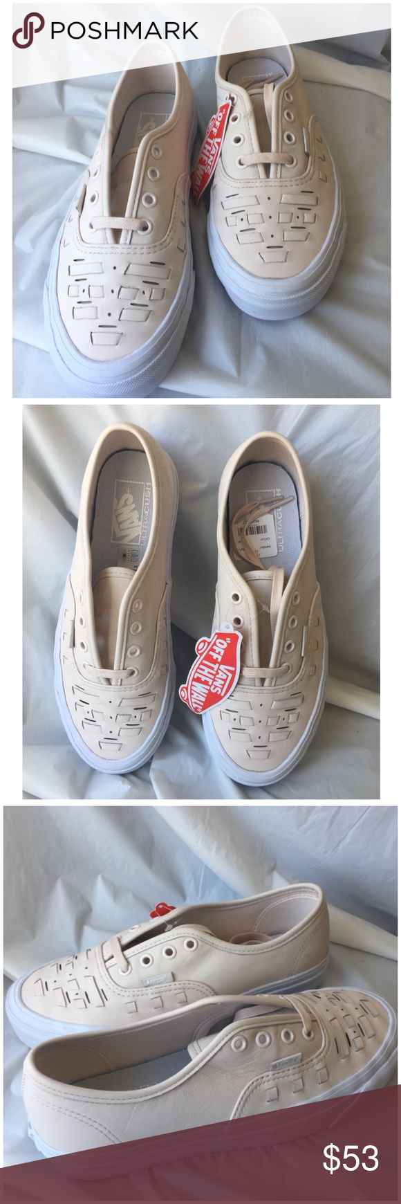 7804aaa19b Vans Authentic Weave DX (83) Leather upper Weave detailing of traditional  huarache sandals Lace up with metal eyelets Signature waffle outsole Color   ...