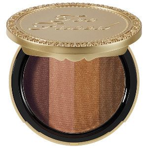 Too Faced Beach Bunny Custom-Blend Bronzer in Beach Bunny - bronze/ soft peach/ golden ivory/ golden tan #sephora