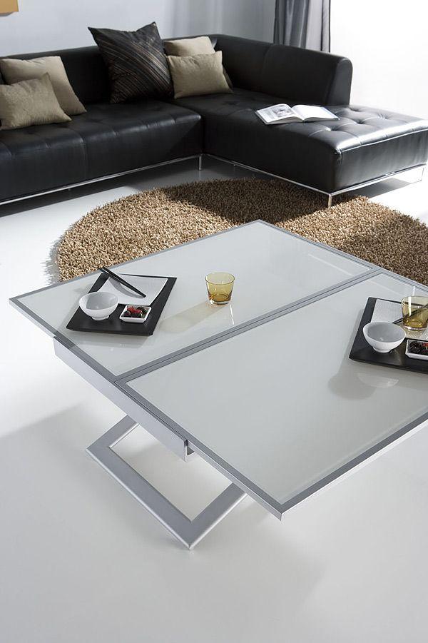 Table Basse Relevable Extensible Doblo Tables Basses Relevables