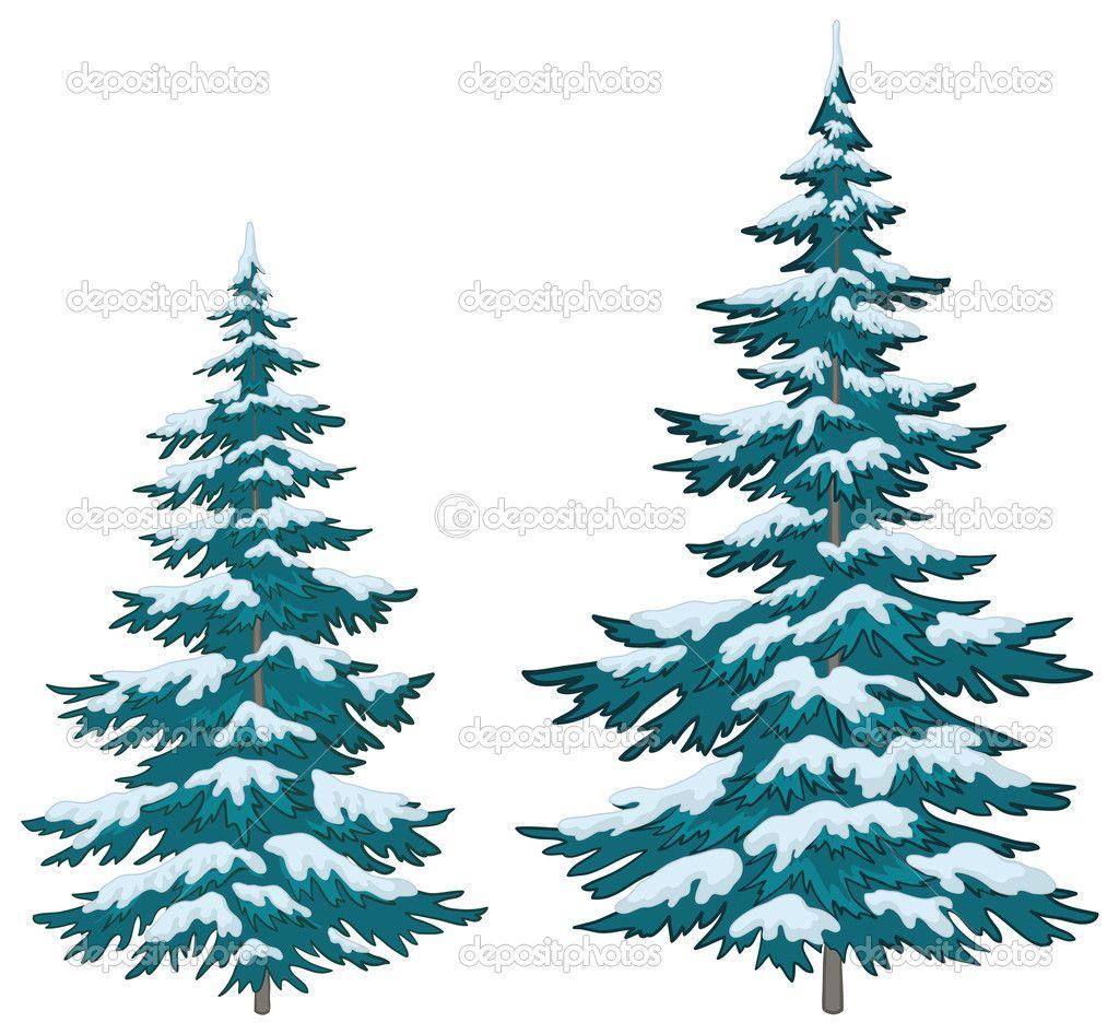 Snow Tree Vector Google Search Tree Illustration Vector Trees Fur Tree