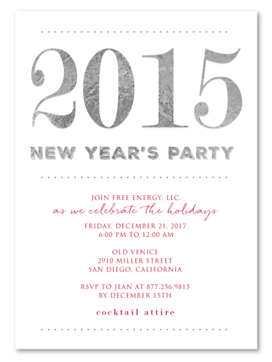 Corporate New Year Party Invitations 2014 By Green Business Print 100 Recycled Party Invite Template Business Invitation Business Events Invitation