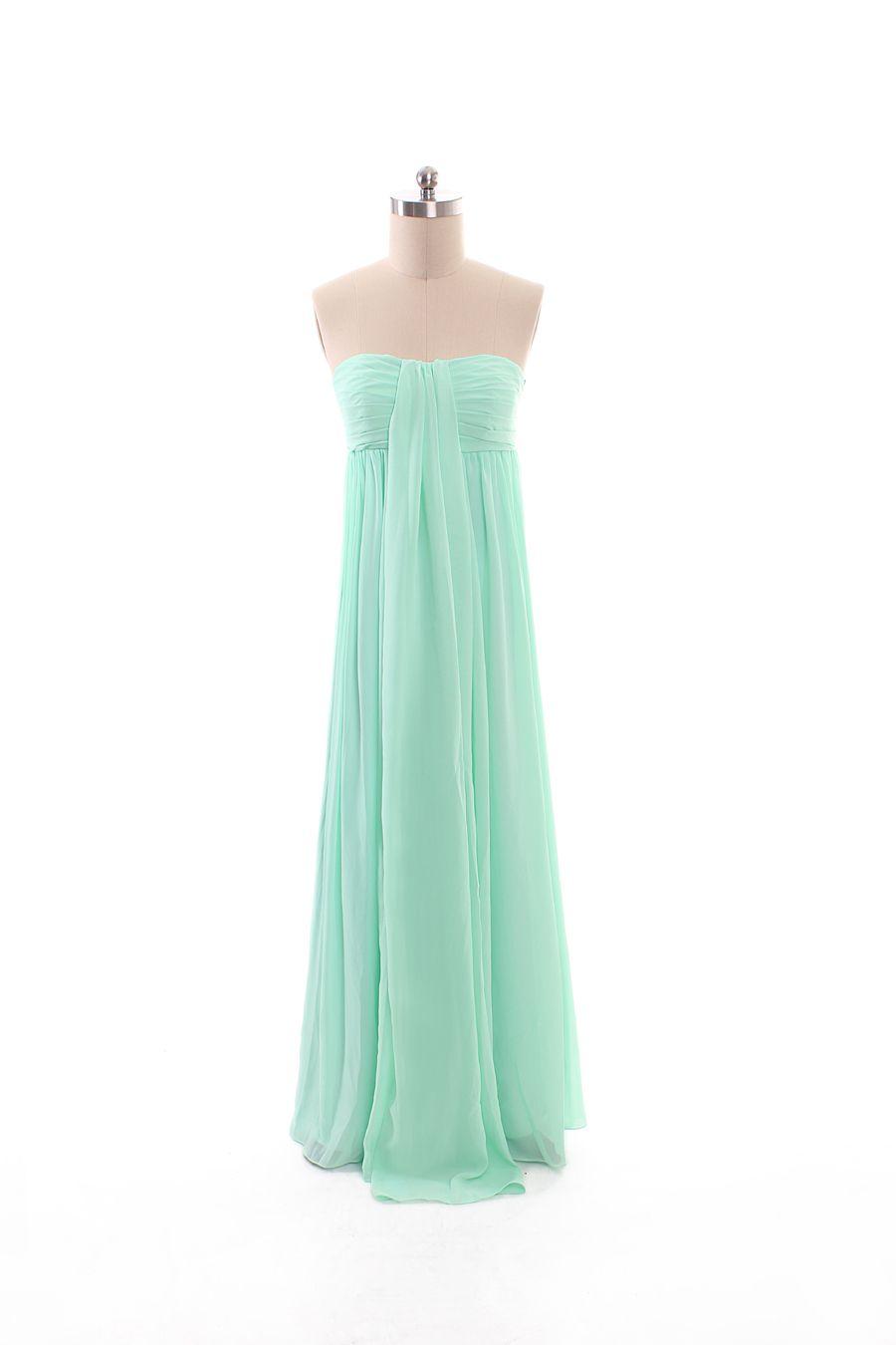 Turquoise wedding dresses  Beauty sleeveless chiffon bridesmaid gown  Clothing  Pinterest