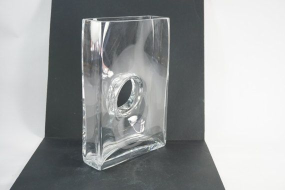 Rectangular Clear Glass Vase Vase With Hole In The Middle Tall