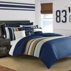 Nautica Heritage 2-Piece Navy Twin Comforter Set, Blue