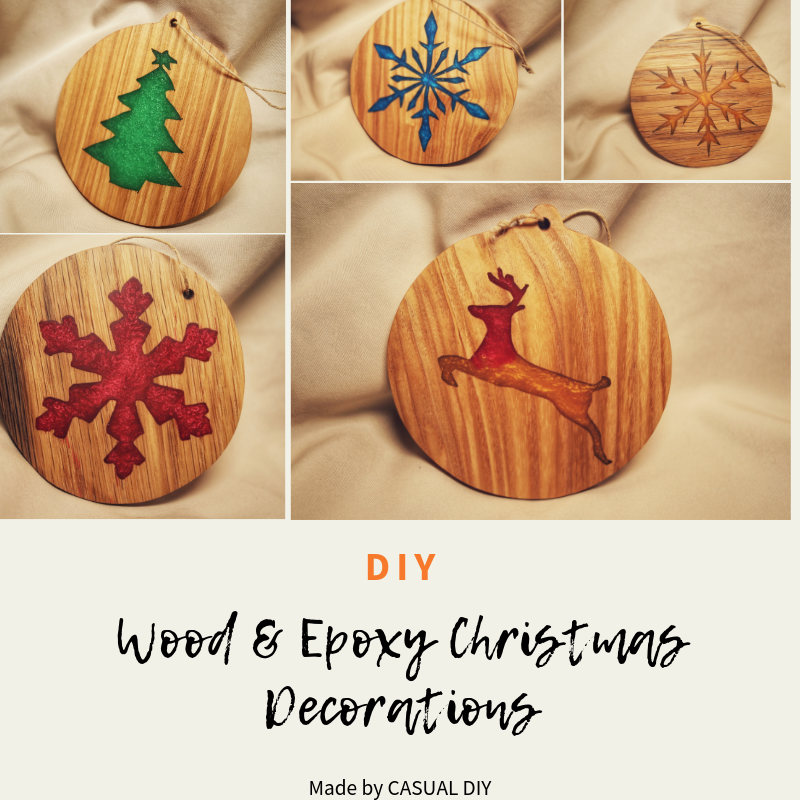 Wood Epoxy Christmas Decorations Wooden Christmas Decorations Epoxy Resin Crafts Epoxy Resin Diy